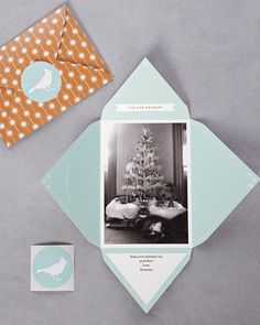[Photo Envelope] create foldable envelope to insert photo in. Print on both sides of envelope for more detail.