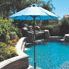"Ideal for both residential and commercial locations, this 6' Cafe & Bistro Market Sunbrella Umbrella features Manual ""Easy Lift"" system. Durable enough for commercial use at $229.00 best value price.  Product ID : GAL-111-211-SB #PatioUmbrella"
