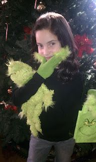 Homemade Grinch Gloves