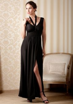 Evening maxi dress for women with large breasts | DDAtelier