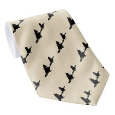 spooky flying witches on broomsticks halloween neck tie - accessories accessory gift idea stylish unique custom