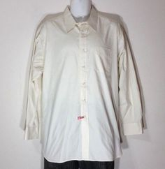 Gitman Bros. Nowell's Mens Dress Shirt Long Sleeve Ivory Cotton Oxford 17-34 #GitmanBros