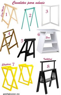 DIY - Mesa com porta, cavalete e papel contact
