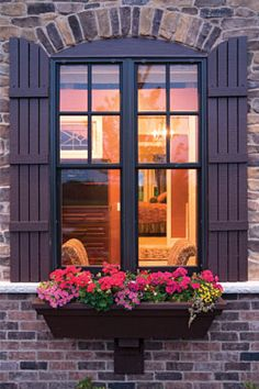 french window boxes   Country French window box