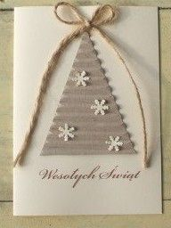 Boże Narodzenie Kartka Diy Christmas Cards Stampin Up, Christmas Cards 2018, Christmas Origami, Christmas Greeting Cards, Homemade Christmas Decorations, Homemade Christmas Cards, Christmas Gift Tags, Homemade Cards, Christmas Crafts
