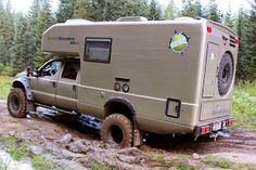 Playing in the mud Camping Diy, Off Road Camping, Truck Camping, Big Ford Trucks, 4x4 Trucks, Truck Mods, Adventure Trailers, Adventure Campers, Land Rover Defender