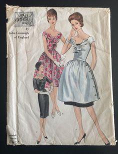 Vogue Couturier Design Evening Dress John Cavanaugh of England pattern 1003