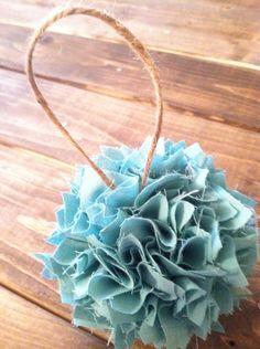 Shabby Chic fabric Ornament