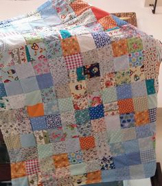 A Lovely Patchwork Quilt 40 x 50 inches Lap Blanket, Main colours are Blue, Green, Orange, Cream, and Pink, Has Owls, Squirrels Foxes and Rabbits giving this Patchwork Quilt, a rustic feel, Fun for children to try and find the animals scattered in the Patches.  All Items can be personalized as you desire  Gift Wrapping is also available, please contact me with your order  Thank you for your Time | Shop this product here: http://spreesy.com/SpryHandcrafted/167 | Shop all of our products at…