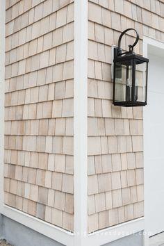 The Home Exterior Reveal! Exterior Siding Options, Exterior House Colors, Exterior Design, Exterior Paint, House Siding Options, Exterior House Siding, Exterior Homes, Cedar Shingle Siding, Cedar Shake Siding