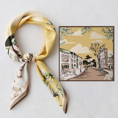 Women's Scarf Square Scarf Vintage style scarf Fall image 10 Bandanas, Diy Fashion Videos, Small Scarf, Polka Dot Scarf, Vintage Fashion, Vintage Style, Textiles, Looks Chic, Scarf Design