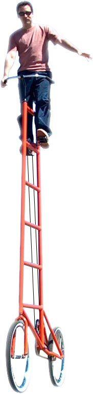 Taaaall bike - would anyone else get vertigo on this?!