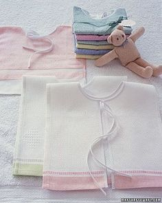 Gifts for Baby.....Towel Bib Hand-towel bibs cover more than the average bib -- and are so easy to create, youll want one for every day of the week.