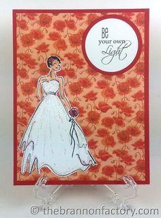 #thebrannonfactory #rubberneckerstamps #greetingcard #browngirls #weddingdress
