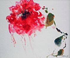 im Garten der Provence....Rote Feuerblume...ACRYL-60x80cm...- von..-Kunst-Maler..-Thomas Mühlbauer