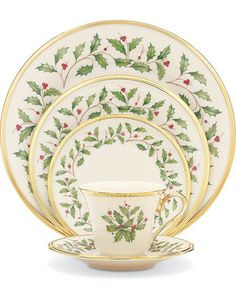 Lennox - now that's what I mean by Christmas china, but oh the cost!