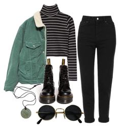 """Untitled #184"" by ten-dencias ❤ liked on Polyvore featuring Topshop and Dr. Martens"