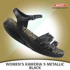 Stand out with the bold and undeniably gorgeous Women's Kaweira 5 Sandal. Available in Metallic Black. Gorgeous Women, Metallic, Footwear, Sandals, Heels, Black, Fashion, Heel, Moda