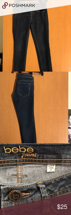 Jeans Bebe medium wash jeans SIZE 27 skinny jeans with stretch bebe Jeans Skinny