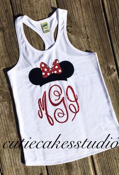 Disney shirt mickey minnie mouse Racerback Tank top Disney Girl Baby Toddler Ladies disney world Disney Vacation Shirts, Disney Shirts For Family, Shirts For Teens, Couple Shirts, Disney Vacations, Minnie Mouse Shirt Toddler, Mickey Mouse Outfit, Minnie Mouse Shirts, Soffe Shorts