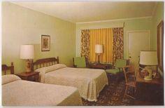 "Perry, Georgia Postcard ""Quality Motel Perry"" Room Interior View c1960s Unused"