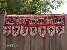 Elephant Door Hanging Wall Hanging Toran from by TribalTara, $15.00