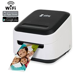 Zink Mobile Photo Printer Multifunction Wireless Color Label instagram Portable Digital Photo Booth Printer Works With Mobile Phone iPad iPhone Tablets Art Printer Mailing Address Label