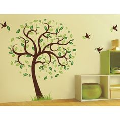Pop Decors Hope Tree with Flying Birds Wall Decal