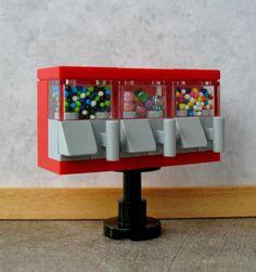 Custom Lego GUMBALL MACHINE TRIO Miniature gum ball candy prize toy 4 minifigs   eBay