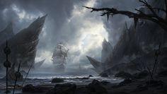 Skull Island, Nikola Sinitsa on ArtStation at http://www.artstation.com/artwork/skull-island-cd642b55-6be5-4526-a7ba-7aee2960d0b2