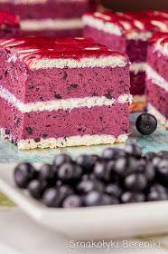 Smakołyki Bereniki: Ciasto jagodowe bez pieczenia