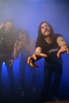 Lemmy with Eddie Clarke and Phil Taylor of Motorhead