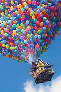 """Colorful balloons (image from the Disney movie """"UP"""")"""