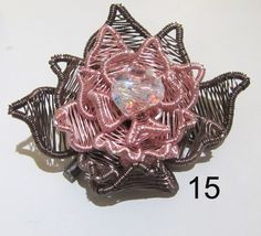 Woven wire with Artistic Wire Rose Gold and Artistic Wire Gun metal