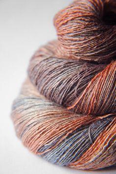 Falling down the Grand Canyon handspun handpainted yarn by Dye For Yarn