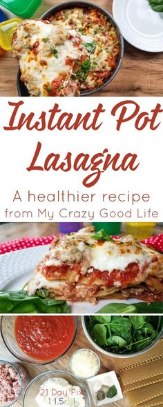 If you're looking for a healthier lasagna recipe, this easy Instant Pot Recipe is the one for you! It's also 21 Day Fix | Clean Eating friendly!  via @bludlum
