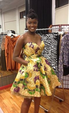 From Rue 114 - sizes 0 to 26 - Image of The Akosua Dress in Limited Edition African Print African Dresses For Women, African Print Dresses, African Attire, African Wear, African Women, African Prints, African Style, African Inspired Fashion, African Print Fashion