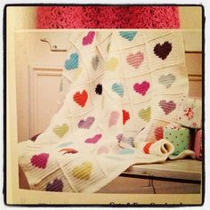 Crochet hearts #blanket