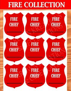 FIRE FIGHTER BADGE - FIREMAN Party - Fire Truck Party