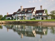 Katherine Hepburn's home for sale. A view from the pond