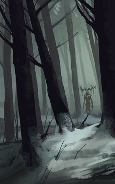 Daily speedpaint 05, Leshen, Jaromir Hrivnac on ArtStation at https://www.artstation.com/artwork/a1Dlq