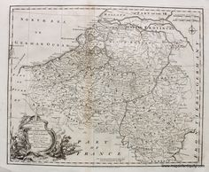 A New & Correct Map of the Netherlands or Low Countries - Antique Maps and Charts – Original, Vintage, Rare Historical Antique Maps, Charts, Prints, Reproductions of Maps and Charts of Antiquity
