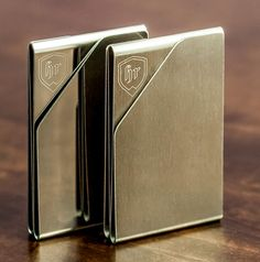 The Slim Money Clip Wallet is a unique triple money clip wallet made from a single piece of brushed or chromed aluminum.