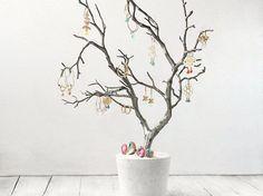 DIY-Anleitung: Dekorativen Schmuckbaum selber bauen / diy tutorial for a jewellery tree via DaWanda.com