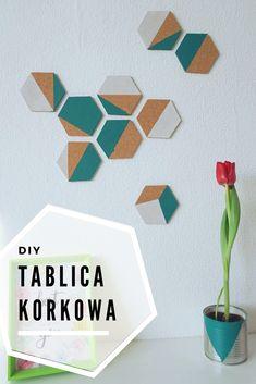 Zrób to sam - geometryczna tablica korkowa z podkładek // DIY geomterical corck board