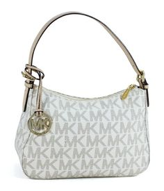f5034866c07b Michael Kors Item Small Top Zip Shoulder Bag in Signature Vanilla PVC Michael  Kors http