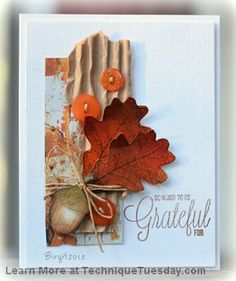Grateful Leaves Card
