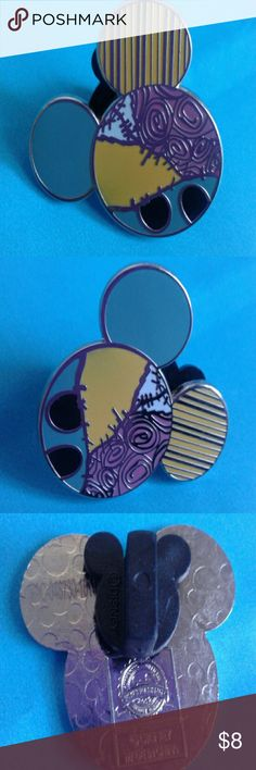 Authentic Disney pin Authentic Disney pin  Sally from nightmare before Christmas  In shape of Mickey mouse head Official Disney stamp on back  Original rubber Mickey mouse backing  Mickey mouse print on back  Price firm  From Disney parkks Disney Jewelry Brooches