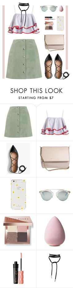 """Suede Boho"" by angiegdurant on Polyvore featuring Topshop, J.Crew, Givenchy, Kate Spade, Christian Dior, Bobbi Brown Cosmetics and Benefit"