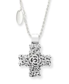 Signet Silver Pendant by Jenna Clifford. Mastercrafted in argentium silver Jenna Clifford, Silver Roses, Cross Pendant, Crosses, Sale Items, Diamond Jewelry, Pendants, Pendant Necklace, Pure Products